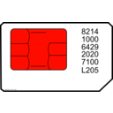 download Sim Card clipart image with 315 hue color