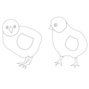 download Chicks Vector Coloring clipart image with 225 hue color