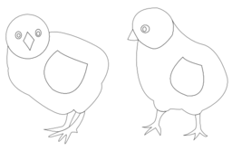 Chicks Vector Coloring