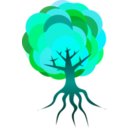 download Simple Tree 3 clipart image with 135 hue color