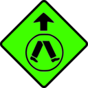 download Caution Pedestrian Crossing clipart image with 45 hue color