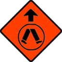 download Caution Pedestrian Crossing clipart image with 315 hue color