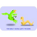 download The Early Worm clipart image with 45 hue color