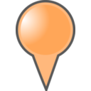 Orange Map Marker