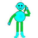 download Robot clipart image with 135 hue color