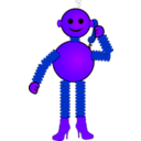 download Robot clipart image with 225 hue color