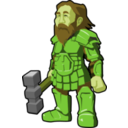 download Dwarf Warrior clipart image with 45 hue color