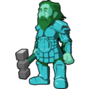 download Dwarf Warrior clipart image with 135 hue color