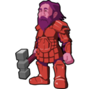 download Dwarf Warrior clipart image with 315 hue color