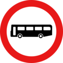 Roadsign No Buses