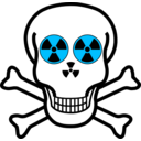 download Nuclear Warning Skull clipart image with 135 hue color