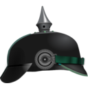 download Pickelhaube clipart image with 135 hue color