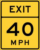Exit Speed 40