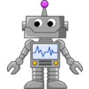 download Cartoon Robot clipart image with 45 hue color