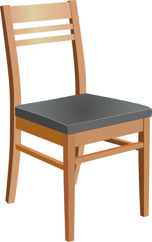 Wooden chair clipart i2clipart royalty free public for Stuhl transparent design
