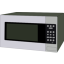download Microwave Oven clipart image with 225 hue color