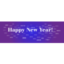 download Happy New Year 2012 clipart image with 45 hue color