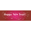 download Happy New Year 2012 clipart image with 135 hue color
