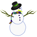 download A Scarfed Snowman clipart image with 45 hue color