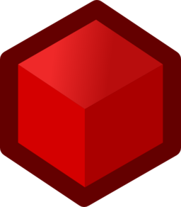 Icon Cube Red