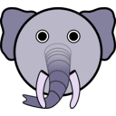 download Elephant clipart image with 225 hue color