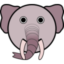 download Elephant clipart image with 315 hue color