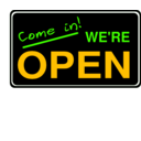 download Open Sign2 clipart image with 45 hue color