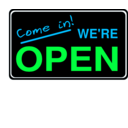 download Open Sign2 clipart image with 135 hue color