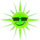 download Cool Happy Sun clipart image with 45 hue color