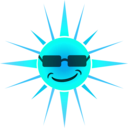 download Cool Happy Sun clipart image with 135 hue color