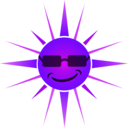 download Cool Happy Sun clipart image with 225 hue color