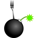 download Fork Bomb clipart image with 45 hue color