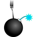 download Fork Bomb clipart image with 135 hue color