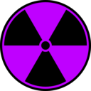 download Radioactive Symbol clipart image with 225 hue color