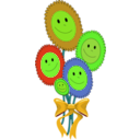 download Happy Sun Flowers clipart image with 45 hue color