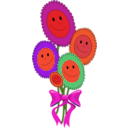 download Happy Sun Flowers clipart image with 315 hue color