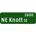 Portland Oregon Street Name Sign Ne Knott St