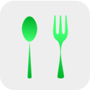 download Spoon And Fork clipart image with 135 hue color