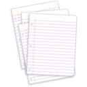 download Messy Lined Papers clipart image with 45 hue color