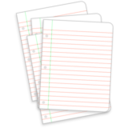 download Messy Lined Papers clipart image with 135 hue color