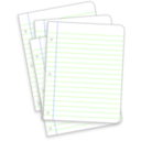 download Messy Lined Papers clipart image with 225 hue color