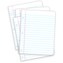 download Messy Lined Papers clipart image with 315 hue color
