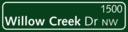 Green Street Sign