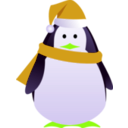 download Christmas Penguin clipart image with 45 hue color