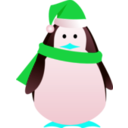 download Christmas Penguin clipart image with 135 hue color