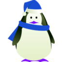download Christmas Penguin clipart image with 225 hue color