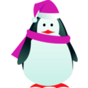 download Christmas Penguin clipart image with 315 hue color