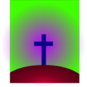 download Cross clipart image with 225 hue color