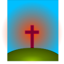 download Cross clipart image with 315 hue color