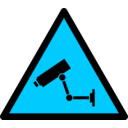 download Caution Cctv clipart image with 135 hue color